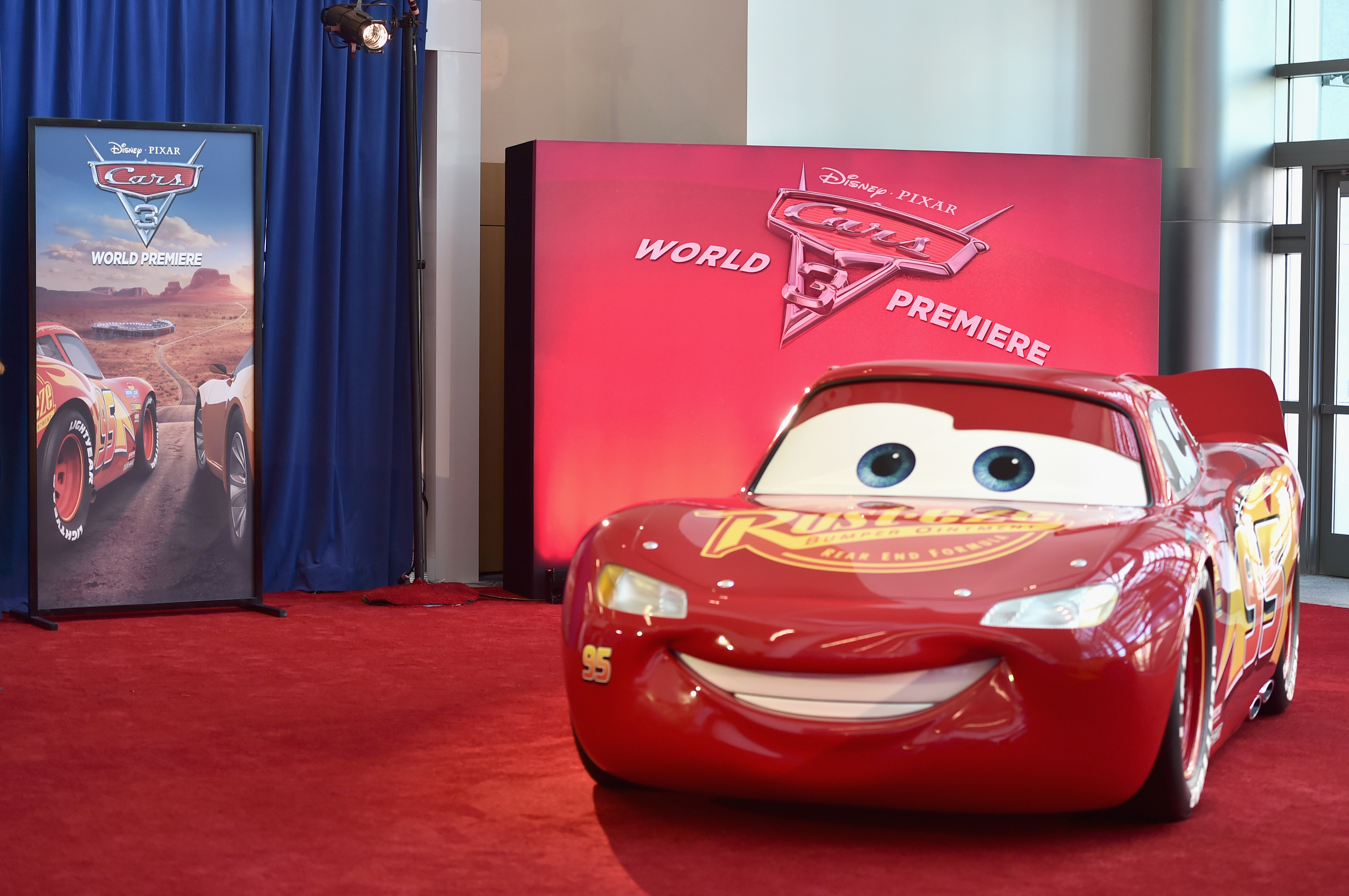 "ANAHEIM, CA - JUNE 10:  A view of the atmosphere at the World Premiere of Disney/Pixar's ""Cars 3"" at the Anaheim Convention Center on June 10, 2017 in Anaheim, California.  (Photo by Alberto E. Rodriguez/Getty Images for Disney)"